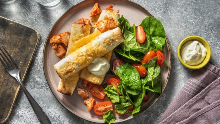 Flautas au poulet et au fromage
