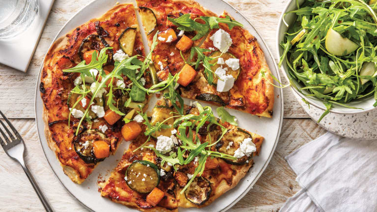 Roasted Pumpkin & Crumbly Cheese Pizza