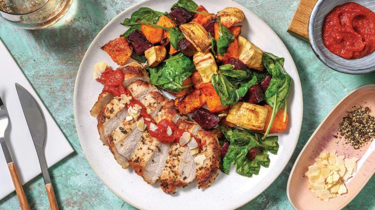 Romesco, Garlic & Herb Pork
