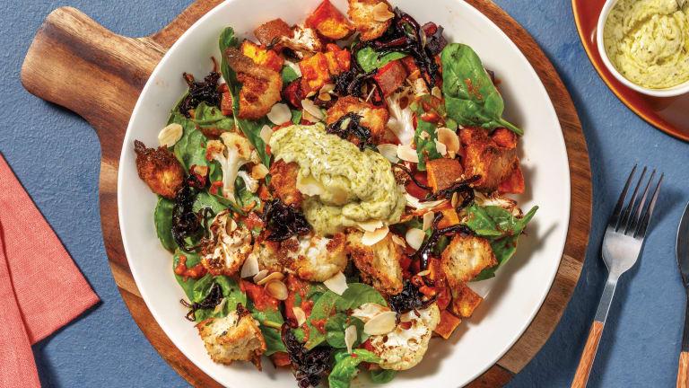 Romesco Roast Veggie & Caramelised Onion Salad