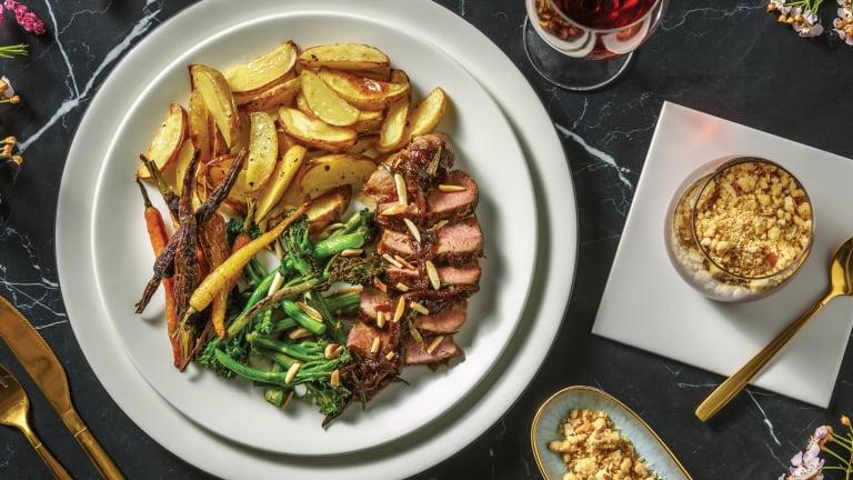 Rosemary & Caramelised Onion Lamb Shortloin for Dinner