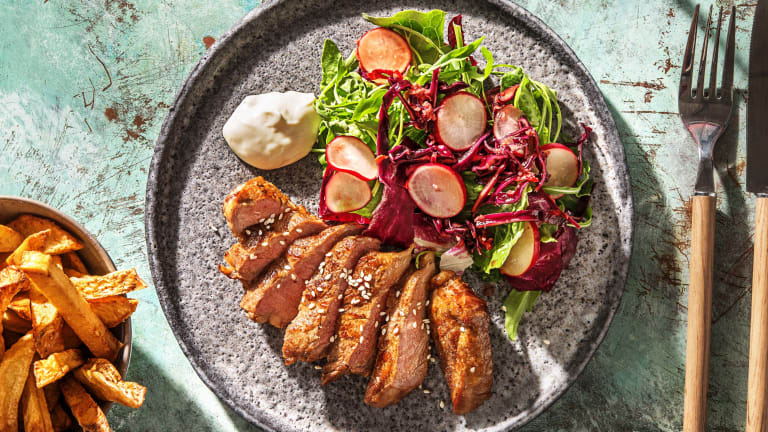 Rumpsteak met Aziatische salade