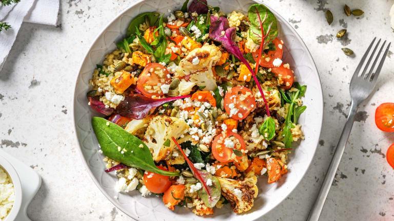 Bulgursalade met gegrilde groenten en feta