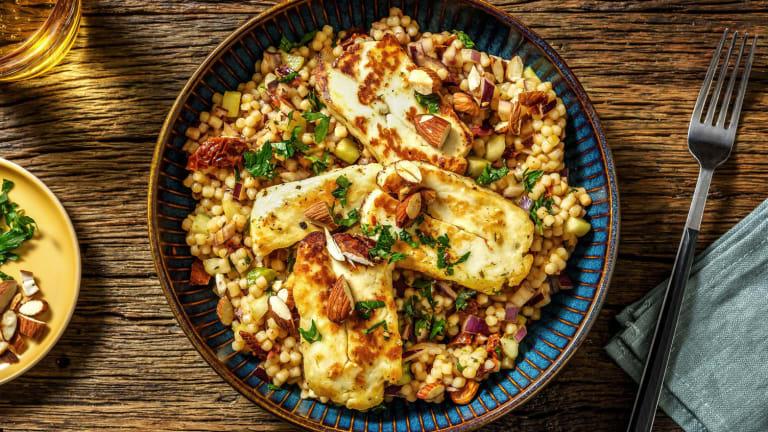 Salade de couscous perlé au halloumi & persil