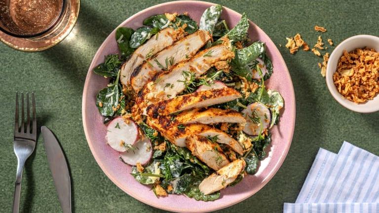 Grilled BBQ-Spiced Chicken Salad