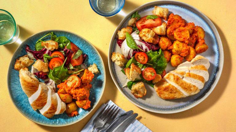 Salade de poulet & panzanella à l'italienne
