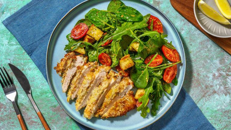 Salade de poulet style parmigiana