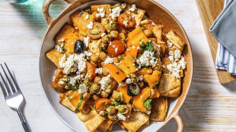 Fattoush Salad with Roasted Chickpeas