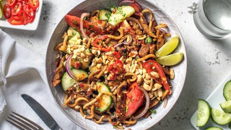 Salade fusion asiatique aux émincés végétariens