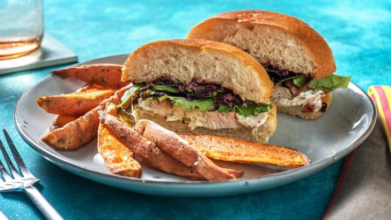 Herby Turkey Sandwich and Cherry Sauce