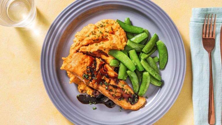 Soy-Maple Glazed Salmon