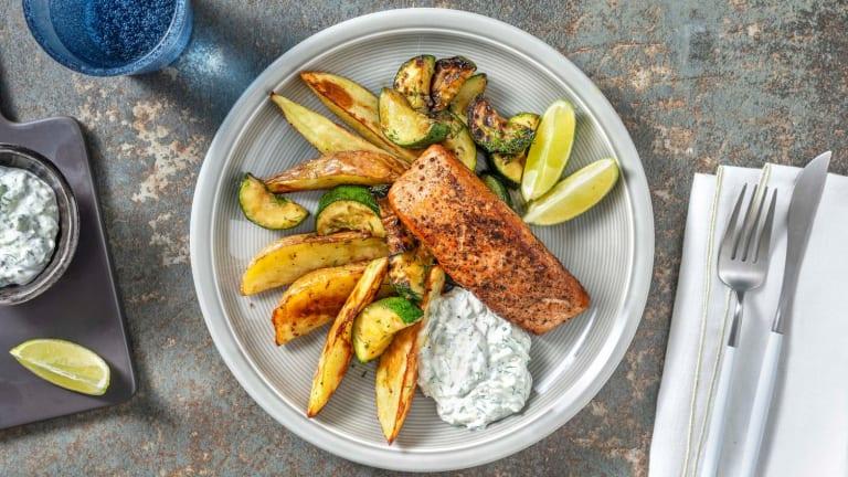 Pan-Seared Greek Salmon