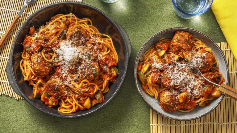 Sausage Meatballs & Spaghetti