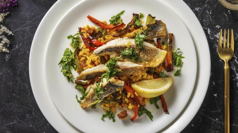 Sea Bream on Saffron Rice