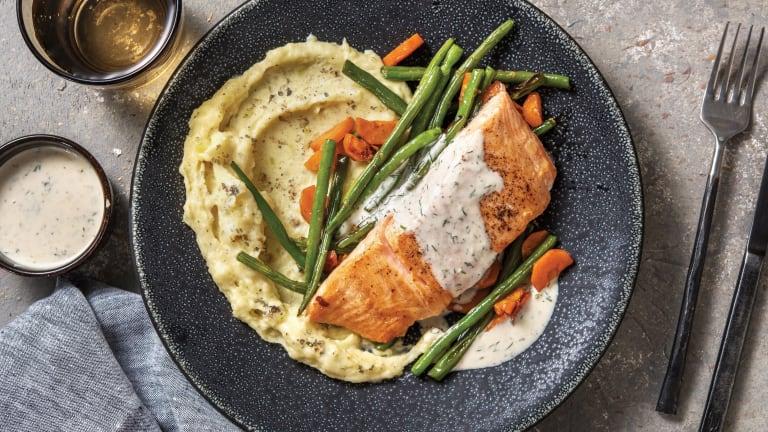Seared Salmon & Creamy Dill Sauce