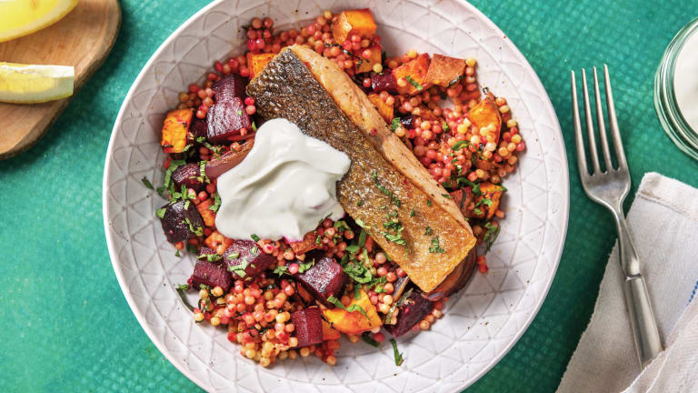 Seared Salmon & Pearl Couscous