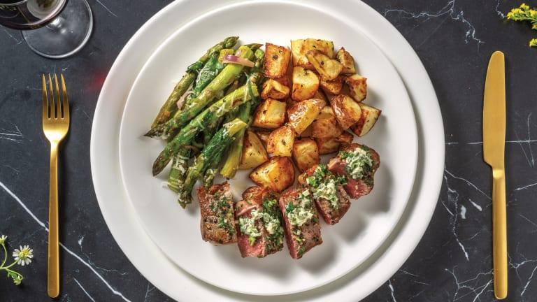 Seared Sirloin & Truffle Potatoes