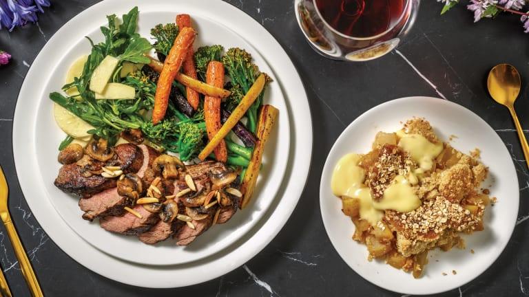 Seared Fillet Steak & Balsamic Mushrooms for Dinner