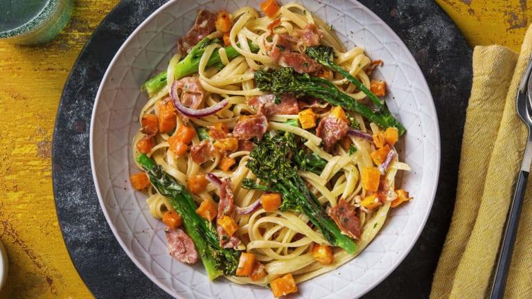Serrano Ham, Parsley & Butternut Linguine