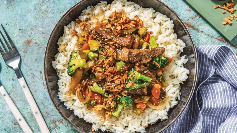 Sesame Beef & Broccoli Stir-Fry