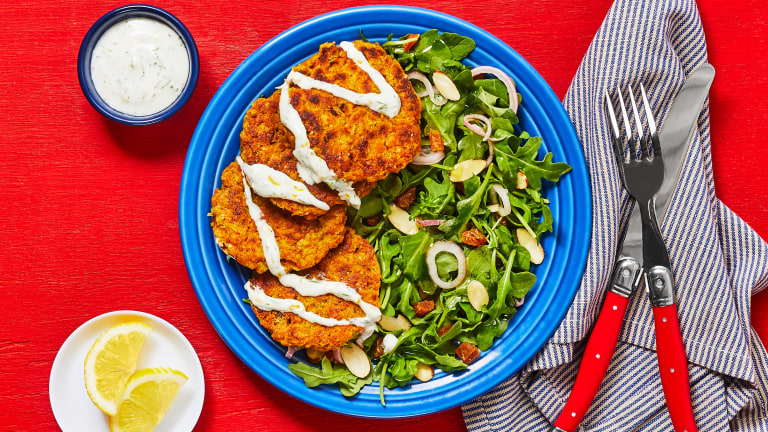 Shawarma-Spiced Chickpea Fritters