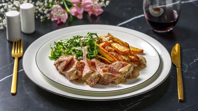 Sirloin Steak and Creamy Tarragon Sauce