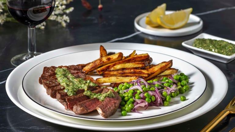 Sirloin Steak and Tarragon Salsa Verde