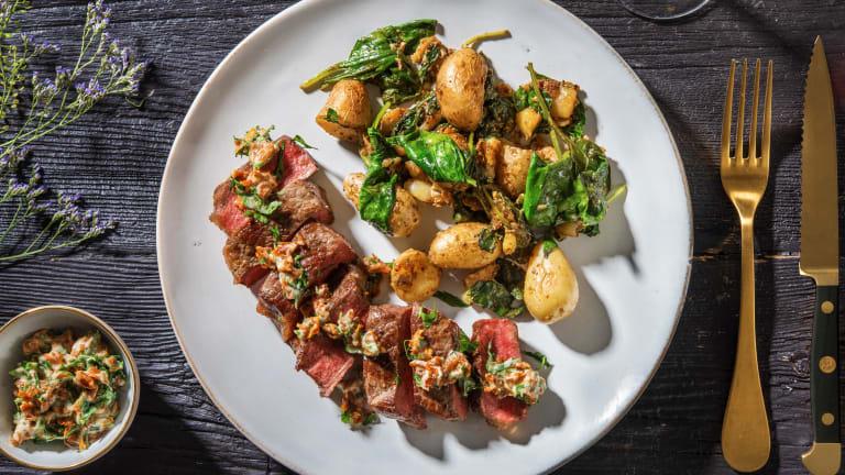 21-Day Aged Sirloin Steak & Mustard Smashed Potatoes