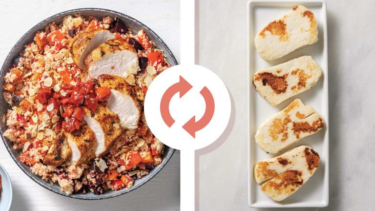 Smokey Haloumi & Roast Veggie Couscous