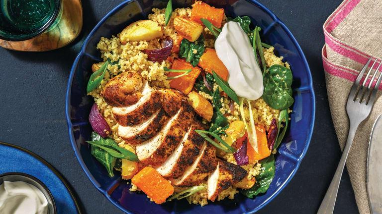 Spiced Chicken & Roast Veggie Couscous