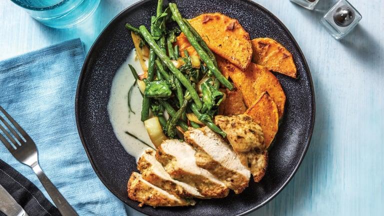 Southeast Asian Chicken & Roasted Pumpkin