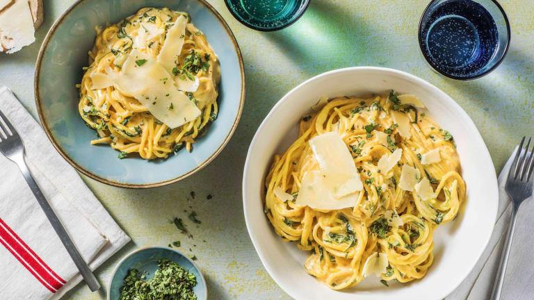 Spaghetti mit Paprika-Mascarpone-Soße