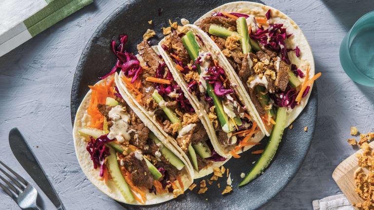 Speedy Asian Beef Tacos