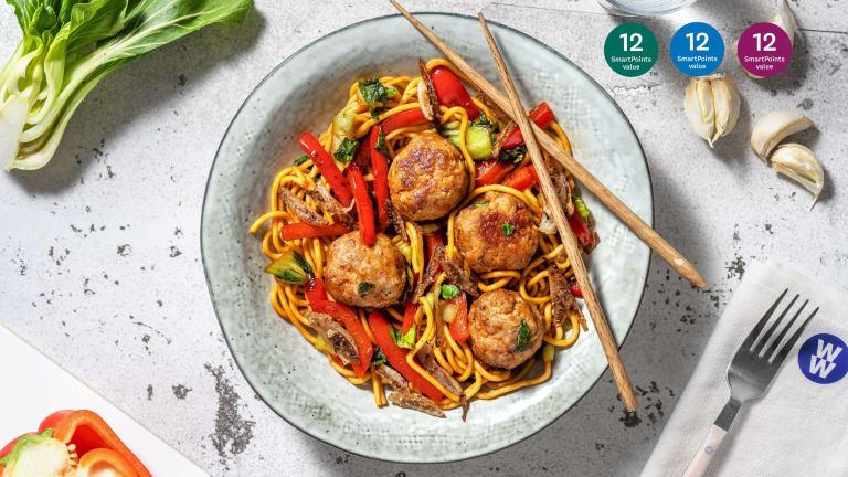 Spicy Szechuan Glazed Pork Meatballs