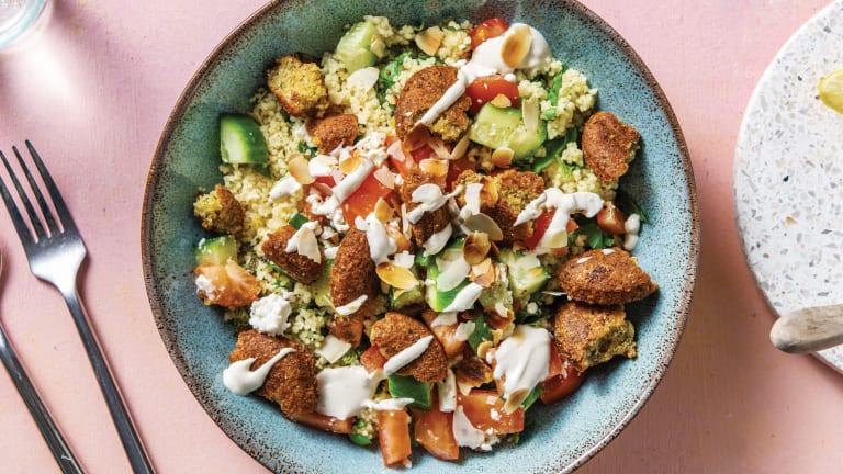 Herby Falafel & Tahini Couscous Bowl