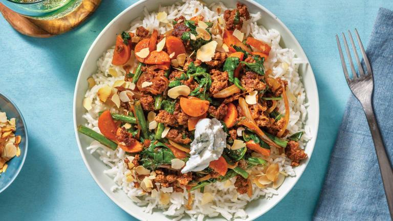 Quick Sri Lankan Beef Curry & Garlic Rice