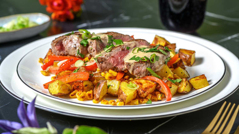 Steak and Creamy Chipotle Sauce