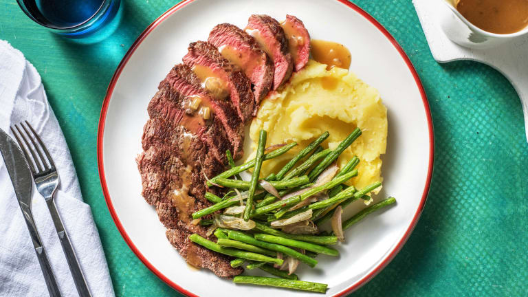 Beef Steak with Pan Gravy