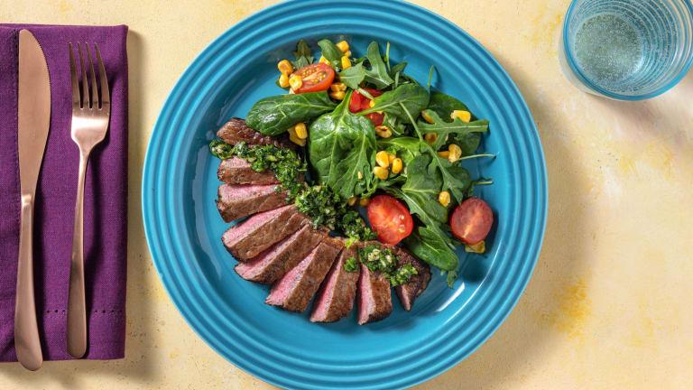 Seared Steaks with Gremolata