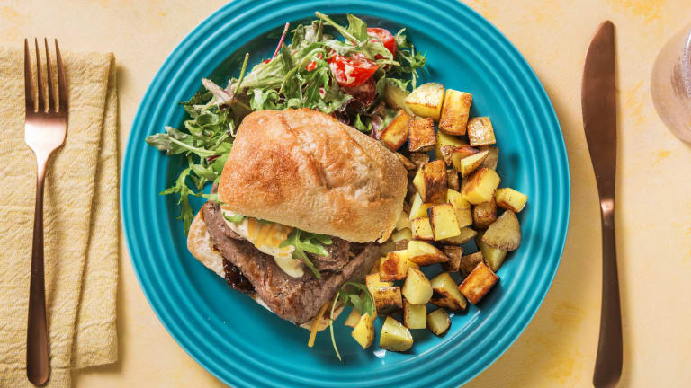 Minute Steak Ciabatta with Fried Potatoes