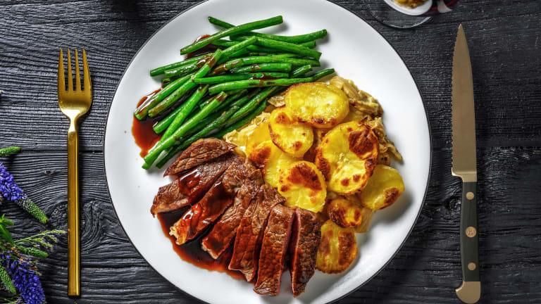 Matured Steak and Dauphinoise Potatoes