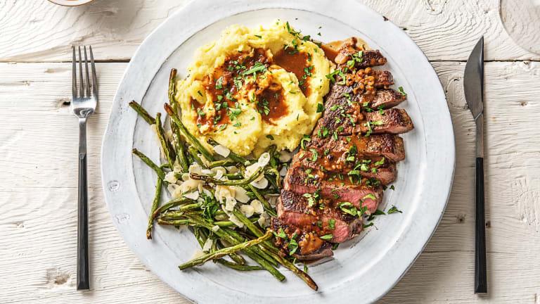 20 oz Rib-Eye Steaks Over Truffled Mashed Potatoes