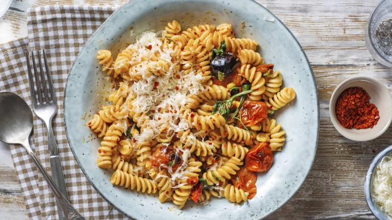 Sun-Dried Tomato & Sweetcorn Pasta