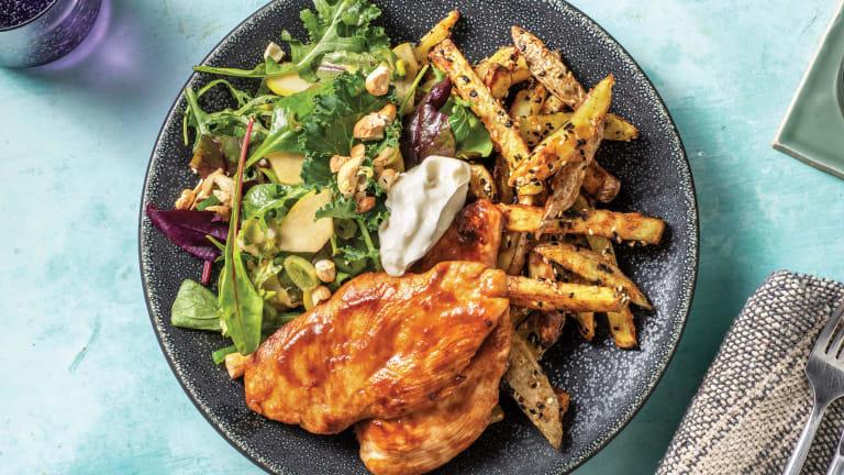Sweet Miso Chicken & Sesame Fries
