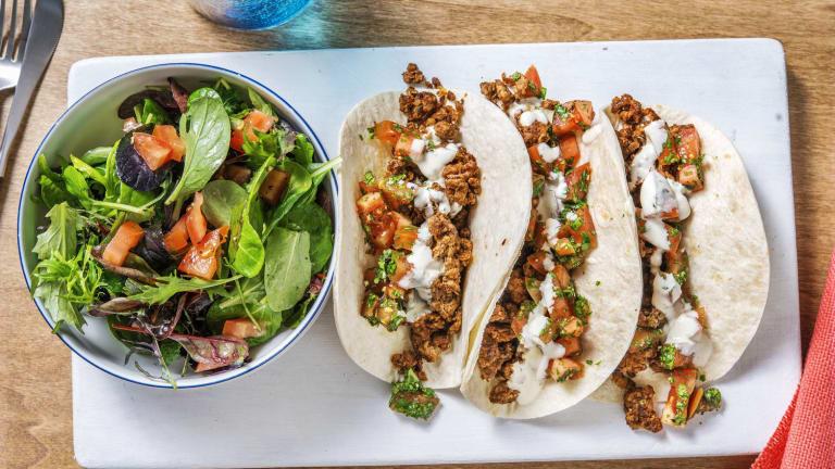 Lamb Tacos and Fresh Pico de Gallo