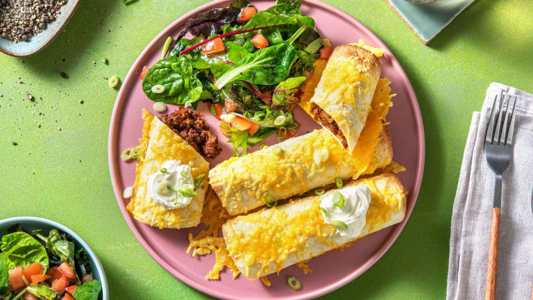 Beef and Corn Taquitos