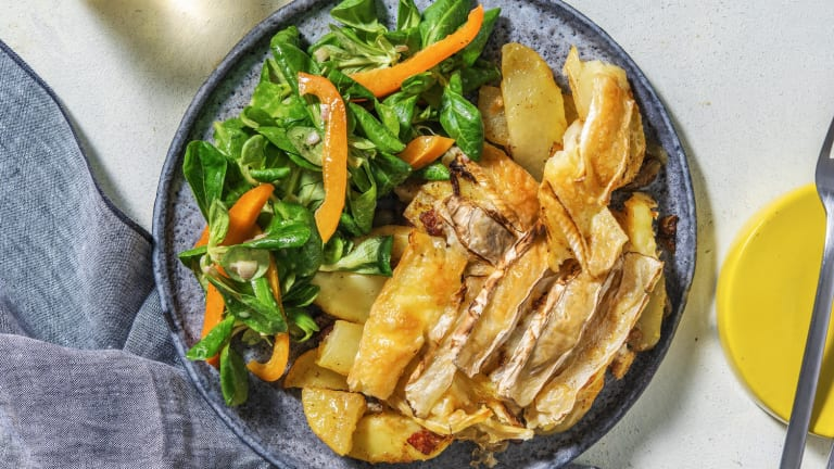 Tartiflette met camembert, brie en spekjes