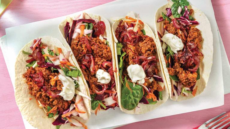 Tex-Mex Veggie Mince Tacos