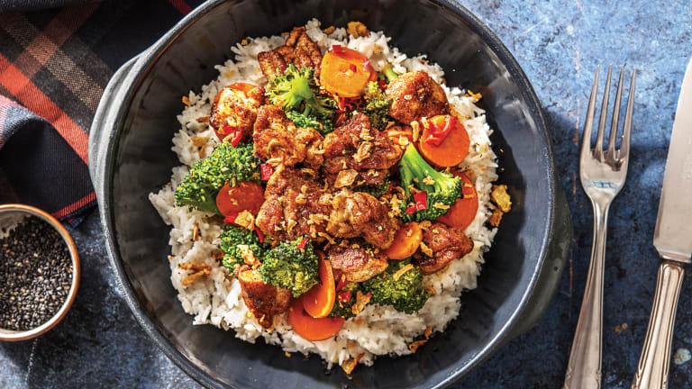 Thai-Spiced Chicken & Broccoli