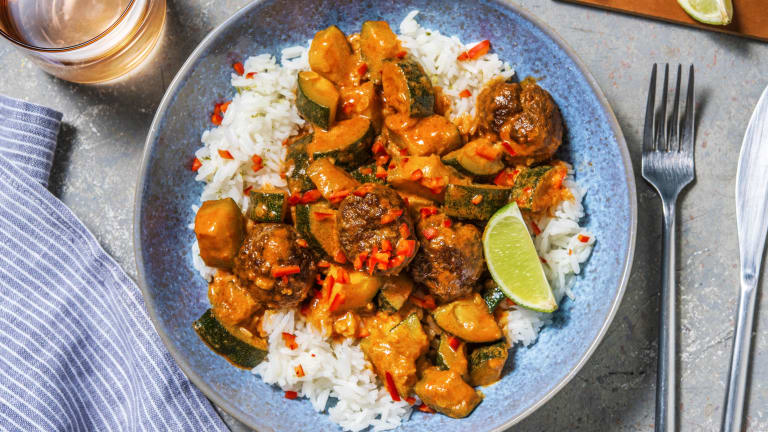 Thai Red Beef Meatball Curry
